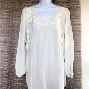 Joie Silk Embroidered Blouse NWT